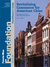 Revitalizing Commerce for American Cities: A Guide to Urban Main Street Practice.